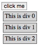 three divs appear when you click the button